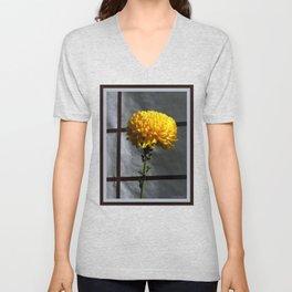 Golden Chrysanthemum Unisex V-Neck