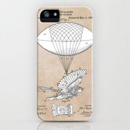 patent art Spalding Flying Machine 1889 iPhone Case