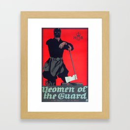 Vintage Art Deco pre 1920's Theatre Play Poster Style Woman Guard Framed Art Print