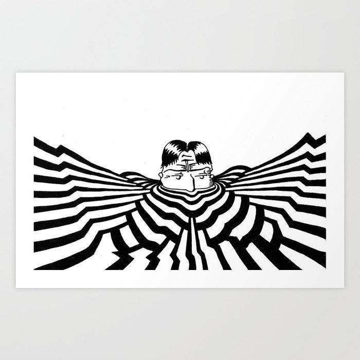 Ripplescape #2 Art Print
