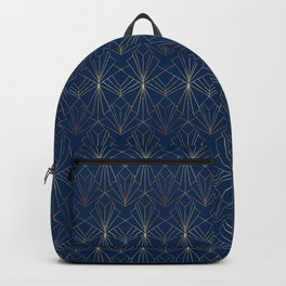 Navy & Gold Art Deco Backpack