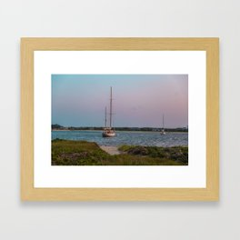 Edgartown Sailboats Framed Art Print
