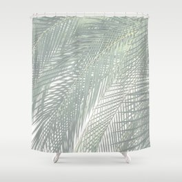 Faded Palm Leaves Shower Curtain