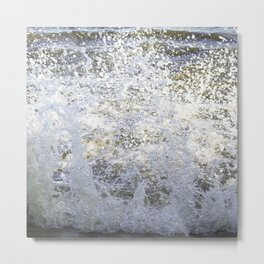 Sea wave splash Metal Print