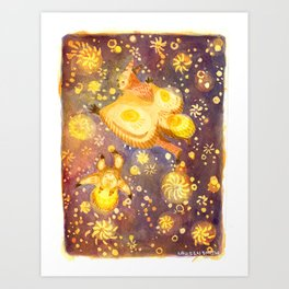 With Stars! Art Print