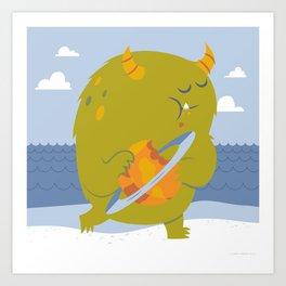 Planet Eating Monster Art Print