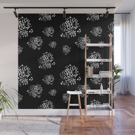 Wild Dots Black Wall Mural
