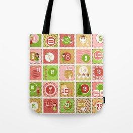 Merriment Christmas Advent Tote Bag