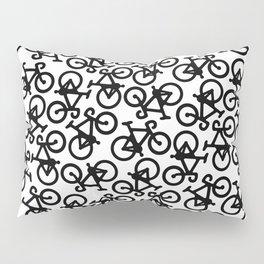 Black Bikes Pattern Pillow Sham