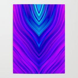stripes wave pattern 3 s60 Poster
