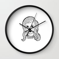 marina Wall Clocks featuring Marina by Rosalia Mendoza