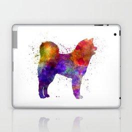 Akita Inu 01 in watercolor Laptop & iPad Skin