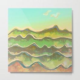 Magic Flight over the Sea of Clouds Metal Print