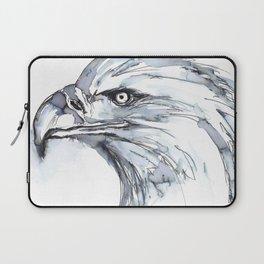 Eagle Portrait (Watercolor Sketch) Laptop Sleeve