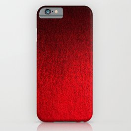 Ruby Red Ombré Design iPhone Case