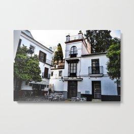 Spanish White Metal Print