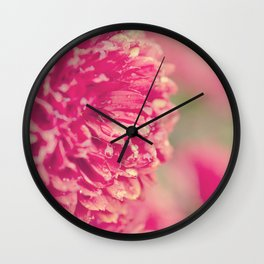 Red Chrysanthemums Wall Clock