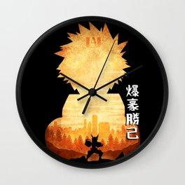 Minimalist Silhouette Bakugo Wall Clock
