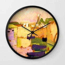 Roger de La Fresnaye Village at Water Edge Wall Clock