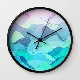 Sunrise at Nishizawa Valley Wall Clock
