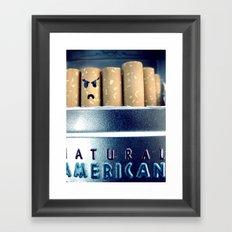 Evil Cigarette Framed Art Print