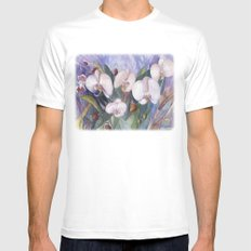 Orchid Fantasy Mens Fitted Tee MEDIUM White