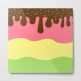 Sweet Ice cream Metal Print