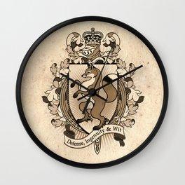 Fox Coat Of Arms Heraldry Wall Clock