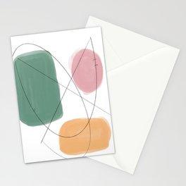 Mid-century Pastel Geometric Palette Stationery Cards