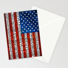 American Flag - USA Stone Rock'd Art United States Of America Stationery Cards