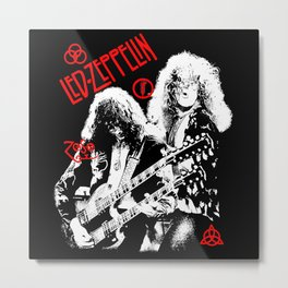 Red Zeppelin Zoso Metal Print