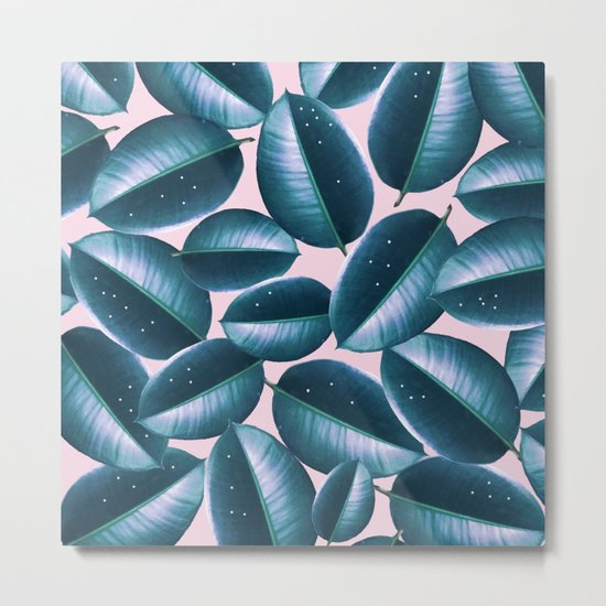 Rubber Plant Cure #society6 #decor #buyart Metal Print