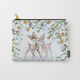 Cute Watercolor Deer Carry-All Pouch