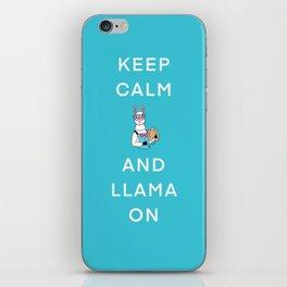 Keep Calm And Llama On iPhone Skin