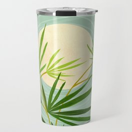 Summer Moon / Tropical Garden Illustration Travel Mug