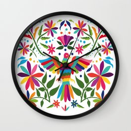 Colorful ,mexican, traditional, textile, embroidery ,style  Wall Clock