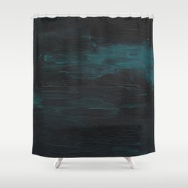 Dark Teal Sea Shower Curtain