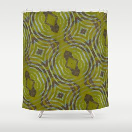olive extrusion Shower Curtain