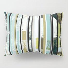 modern mid century, Graphic art, neutral colors, geometric art, circles, modern painting, abstract Pillow Sham