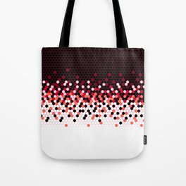 Flat Tech Camouflage Reverse Red Tote Bag