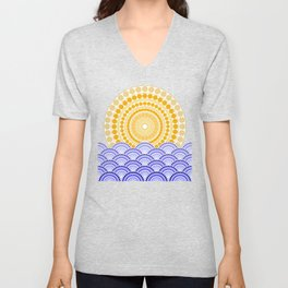 LIGHT OF DAWN (abstract tropical) Unisex V-Neck