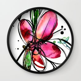 Ecstasy Bloom 9 by Kathy Morton Stanion Wall Clock