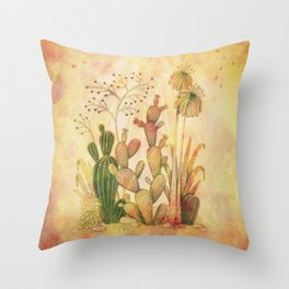 For the Love of Cactus Throw Pillow