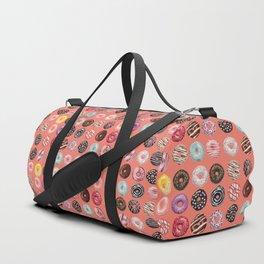 donuts coral pink Duffle Bag