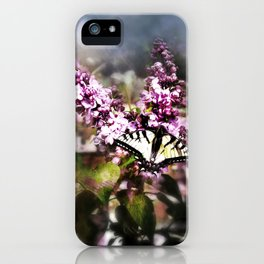 Lilac and the Butterfly iPhone Case