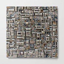 Abstract Metallic Structure Metal Print