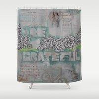 grateful dead Shower Curtains featuring Grateful by TrishRay