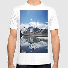 Kunlun Mountains  MEDIUM Mens Fitted Tee White