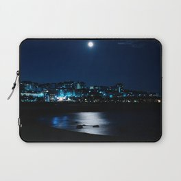Wolf Moon Rising Over Blue Waters Laptop Sleeve