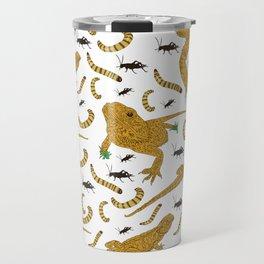 Large Bearded Dragon pattern Travel Mug